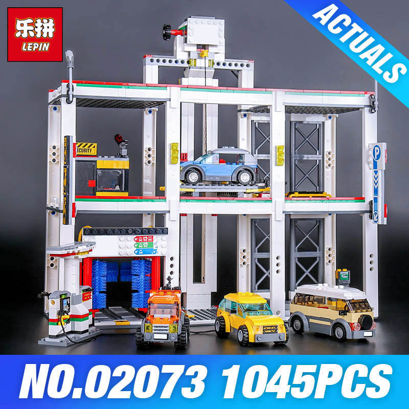 Lepin 02073 Genuine 1045Pcs Assemblage City Series The City Garage Set 4207  Building Blocks Bricks Toys As Boy`s Birthday Gift black pearl building blocks kaizi ky87010 pirates of the caribbean ship self locking bricks assembling toys 1184pcs set gift