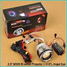 M328 H4 H1 H7 Би-Ксеноновые HID Фар комплект CCFL Angel глаза Объектив Проектора Универсальный 12 В Offroad Автомобиль Мотоцикл 4300 К 6000 К 8000 К