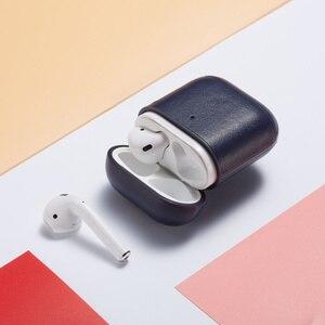 Image 3 - Étui pour écouteurs daffaires de luxe pour Apple Airpods 2 sangle en cuir PU Bluetooth casque Air Pods pochette de couverture accessoires AirPod