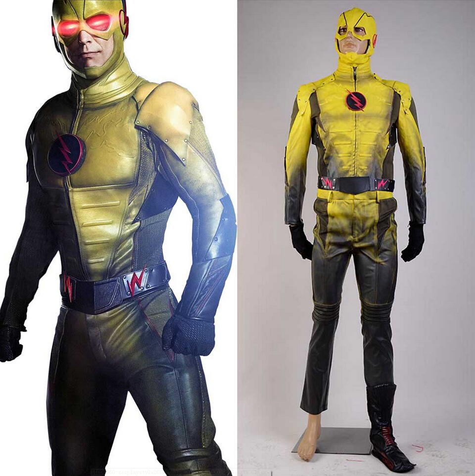 Flash TV series Reverse-Flash Cosplay Costume Ver. B  Halloween Movie  For Adult  Men