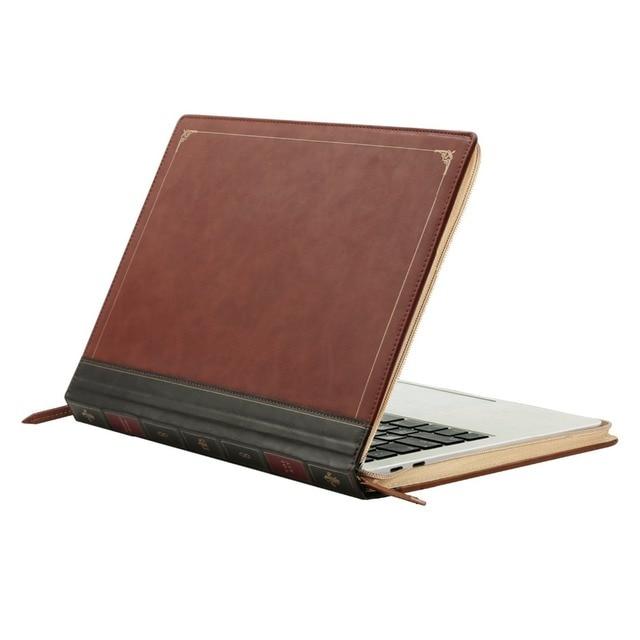 15e7e6826c MOSISO pour Macbook Air 13 Vintage en cuir PU étui pour Macbook Pro 13  ''rétine classique fermeture à glissière housse d'ordinateur portable pour  New Air 13