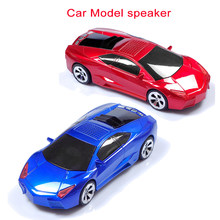 L-B Car Shape Speaker USB TF Card Stereo FM Radio Cars Model Speakers USB MP3 Music Player Bass Kid Gifts Sound Box for PC Phone(China)