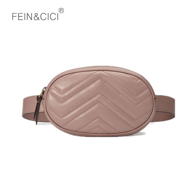 Fanny Pack waist bag women round belt bag luxury brand leather rivet quilted bag red black beige 2018 summer quality wholesale