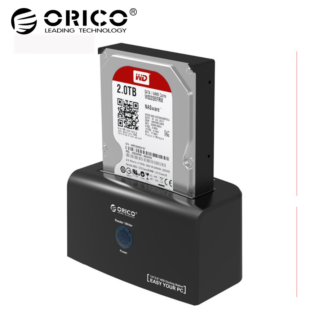 ORICO 8618SUS3 USB3.0 to e-SATA External HDD Hard Drive SSD Docking Station for 2.5 3.5 inch SATA HDD SSD Support 8TB Drive orico 8618sus3 usb3 0 to e sata external hdd hard drive ssd docking station for 2 5 3 5 inch sata hdd ssd support 8tb drive