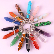 Tigereye/Purple Crystal/Carnelian/Sandstone/Sodalite/Stone/Rose Crystal/Opal/Green Malachite GEM Pendant Snake Jewelry 1PCS