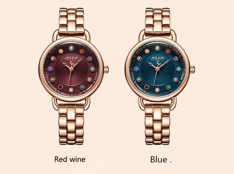 ساعة يد نسائية مرصعة ب 12 لون من حجر الراين 7
