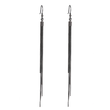 Women's Vintage Silver Earrings Earrings Jewelry Women Jewelry Metal Color: black