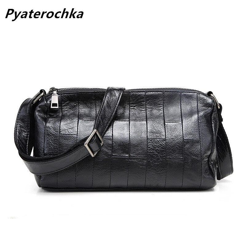 2c4c1a038025 Pyaterochka Genuine Leather Patchwork Handbags Women Messenger Bags Fashion  Casual Luxury Small Flap Cheap Bao Bao Shoulder Bag