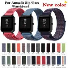 AMAZFEEL нейлоновый ремешок 20 мм 22 мм для Amazfit ремешок на запястье цветная нейлоновая петля ткацкие часы для Amazfit Bip Pace ремешок для часов Brecelet