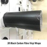 3D наклейка из углеродного волокна виниловая оберточная пленка рулон наклеек автомобиля стикер лист черный 5ft X 98ft/рулон с газовым каналом пу