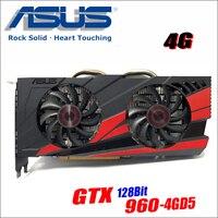 Оригинальный ASUS GTX960 DC2OC 4G D5 Видеокарта GTX 960 4G B 128Bit GDDR5 Графика карты для nVIDIA Geforce Hdmi Dvi gam GTX960 4G