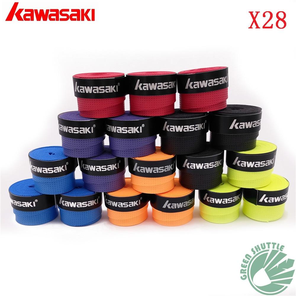 10 Pcs/lot Top Quality Kawasaki Badminton Overgrip X28 X29 Thin Type Tennis Grips Rackets  Hand Glue Overgrips