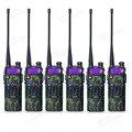 6 unids/lote Baofeng UV-5R 3800 mAh radio portátil de doble banda UHF 400-520 MHz VHF 136-174 MHz jamón transceptor de radio walkie talkie