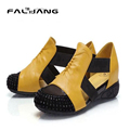Women Sandals female flat heel rhinestone cutout elevator colorant match 2015 spring and summer sandal plus size shoes AA279