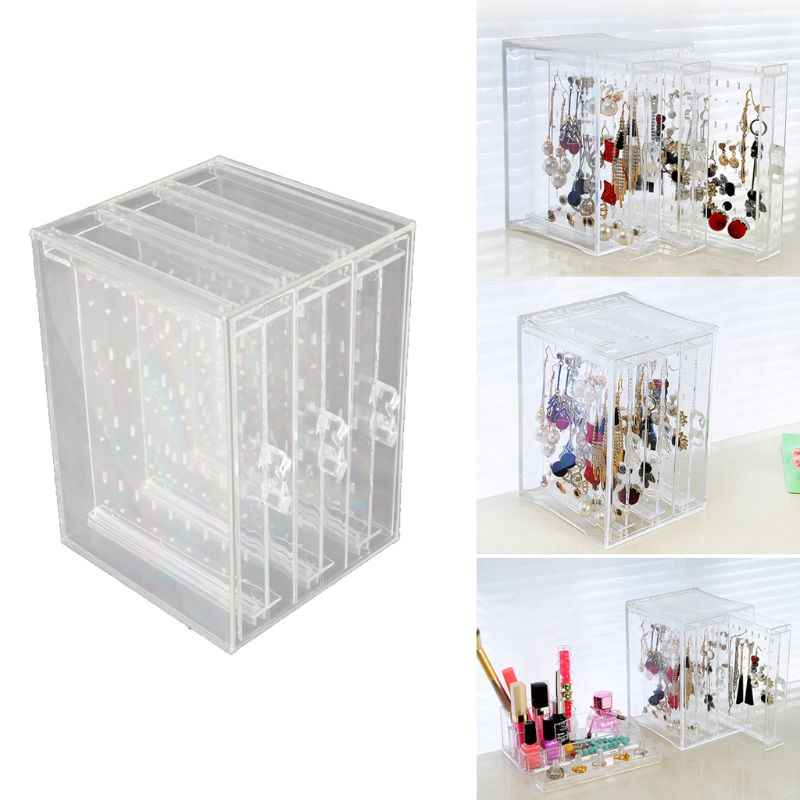 200 Holes Earrings Studs Necklace Jewelry Display Rack Stand Organizer Holder Free Shipping