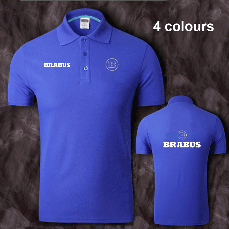 Cotton BRABUS logo   Polo   Shirt Mens Short Sleeve Summer Casual Solid   Polo   Shirts   Polos