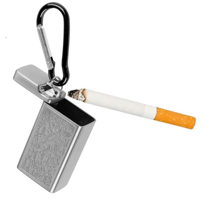 Mini cinzeiro portátil cigarro chaveiro titular de bolso de metal ao ar livre bandeja de cinzas fumaça 3 cores fumar bandeja de cinzas presente natal