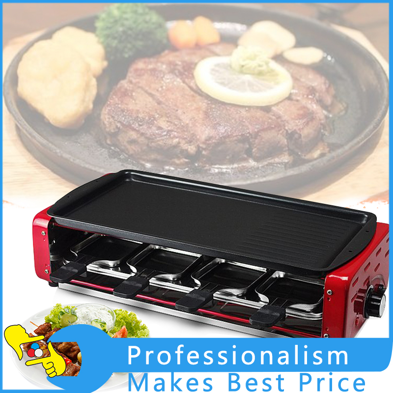 Household Electric Grill Smokeless BBQ Pan Electric Oven Barbecue Grill 220V automatic smokeless bbq grill household electric hotplate stove teppanyaki barbecue pan skewer machine stainless steel outdoor