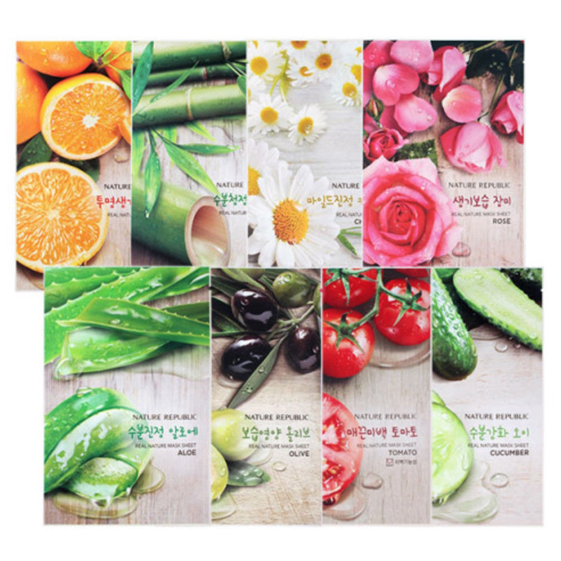 Korea Cosmetic Nature Republic Real Nature Face Mask Sheet