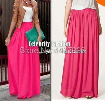 Aliexpress.com : Buy 15 Candy Colors Floor length Chiffon Skirt ...