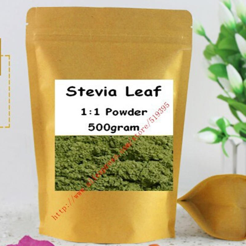 Organic Stevia Leaf Green Powder Sweetener 500gram free shipping stevia extract ra98 zero calories sweetener