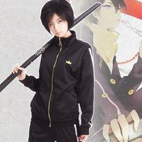 Japanese Anime Noragami Yato Cosplay Costume Jacket Suit Sportswear Whole Set with Coat + Pants + Scarf+wig cosplay costume