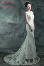 Beauty Emily Elegant Lace White Wedding Dress 2018 Mermaid Long Train Vintage Robe de Mariee vestido novia