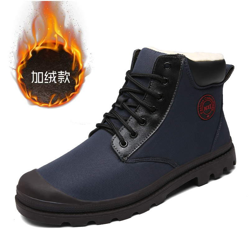 GodErlang Winter Boots Men Winter Warm Fur Boots 2018 Blue Brown Casual Shoes Waterproof Male Classic Plus Size 45 Comfortable