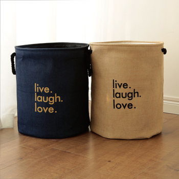 Laundry Toys Storage Box Basket Stand Super Large Bag Cotton Washing Dirty Clothes Picnic Big Organizer Bin Handle 3