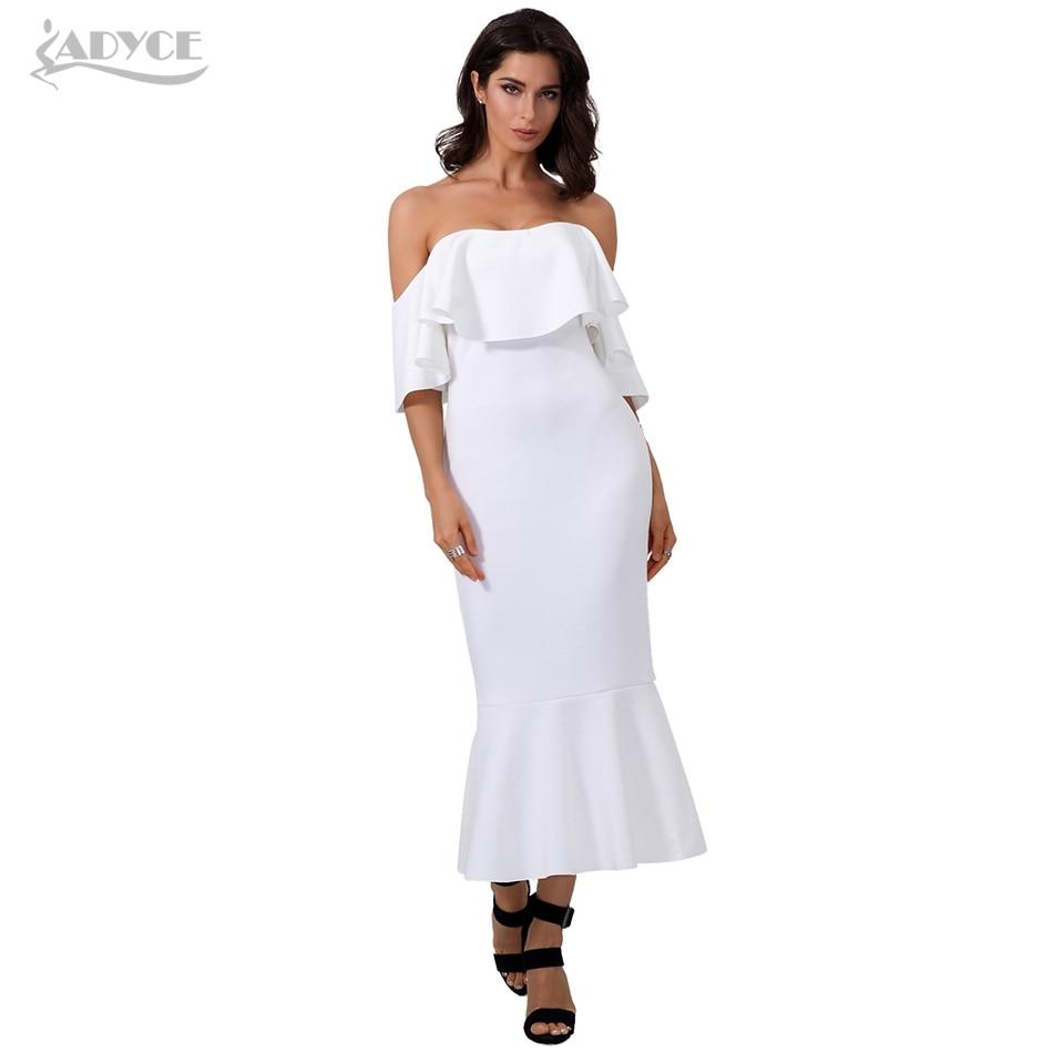 Adyce új nyári Bodycon fehér ruha Vestidos Verano 2019 Elegáns - Női ruházat - Fénykép 3