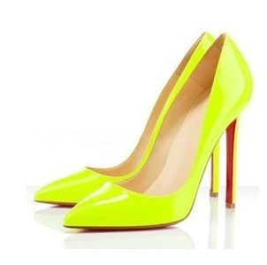 Aliexpress.com : Buy 2016 Size 34 40 Neon Yellow Thin Heel Pointed ...