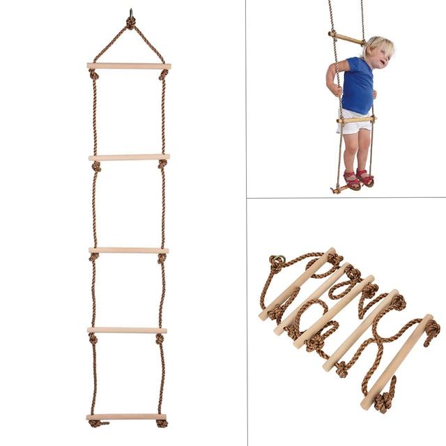 Anak Climbing Rope Tangga Ayunan Indoor Dan Outdoor 5 Anak Tangga