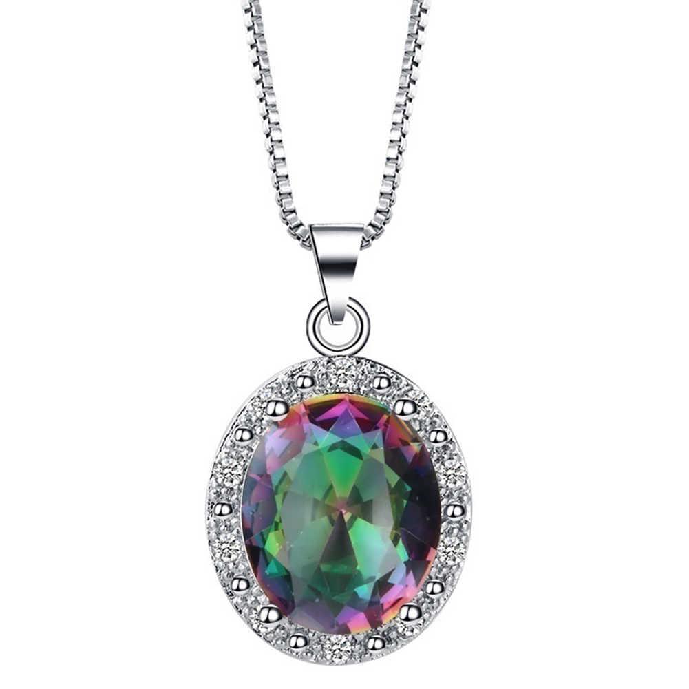 4 sztuk/zestaw Multicolor Crystal Faux pierścień inkrustowany kolczyki naszyjnik biżuteria dla kobiet geometryczny wzór biżuteria ślubna