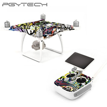 PGYTECH DJI Phantom 4 Pro skin sticker Grain Stickers Waterproof Skin Wrap Protector for Drone Body Remote Control Drone Parts