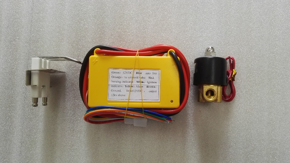 12V 24V Gas Ignition Controller Kit Automatic Gas Burner Igniter Oven Ignition Device With Electrode Spark