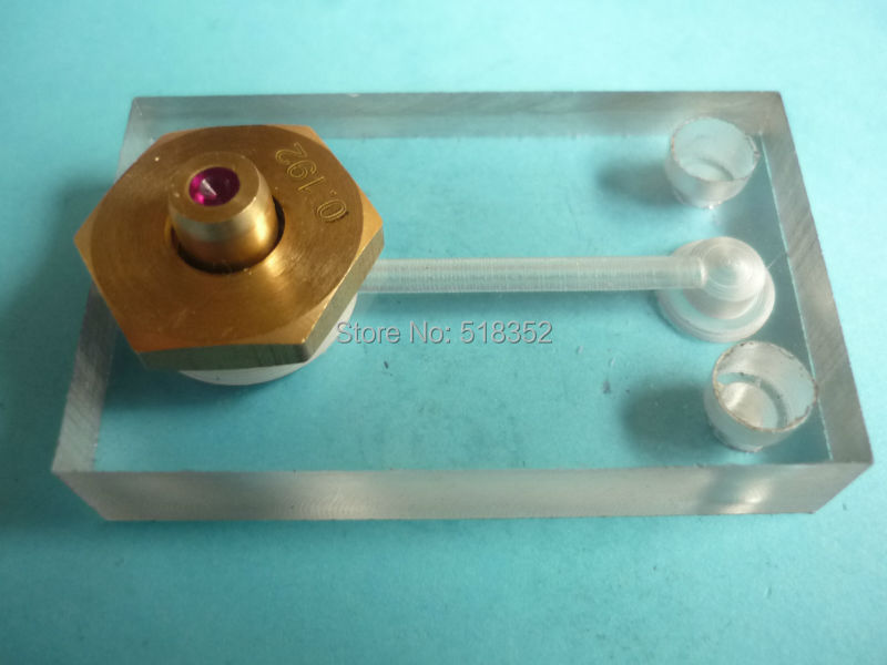 0.192mm Water Jet Panel w/ Ruby Wire Guide, Water Spray Cooling Plate for Wire Cutt EDM Medium Speed Machine Wearing Parts цена
