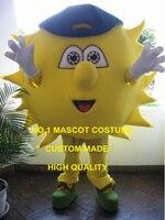 Hot Sale Golden Sunny Sun Mascot Costume Adult Anime Cosply Summer Beach Sun Theme Fancy Dress Cartoon Character Mascotte1821