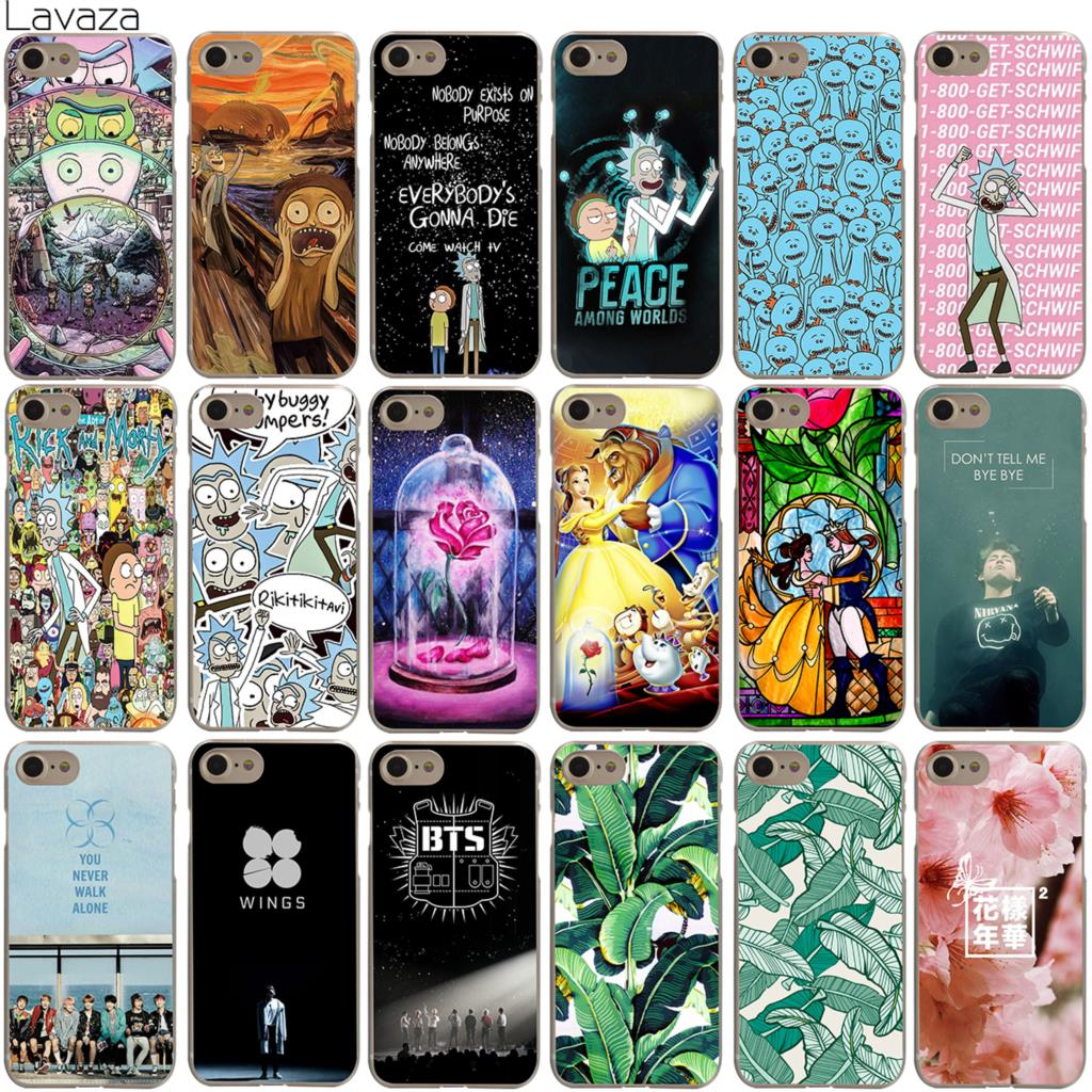 Lavaza Rick and Morty Bts Bangtan Boys Beauty And The Beast Banana Case for iPhone 4 4S 5 5S SE 6 6S 7 8 X Plus