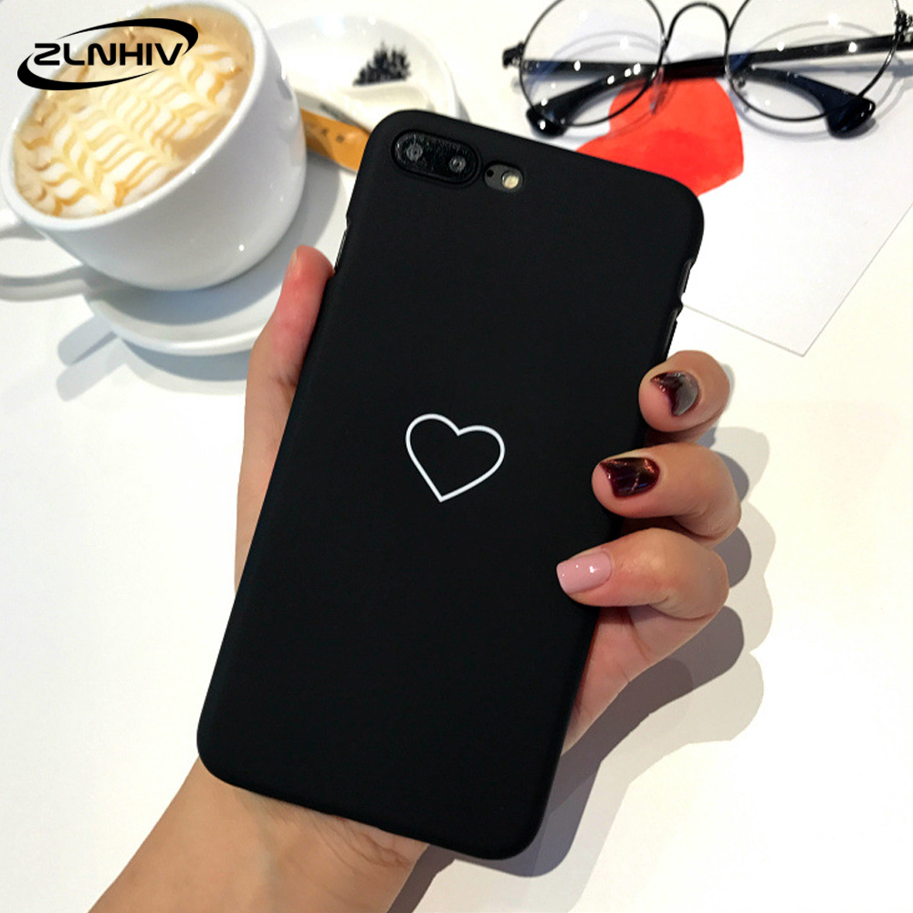 ZLNHIV lovers heart case for iphone X XR XS MAX 6 6s S 7 8 plus phone bag cases mobile accessories coque telephone Shockproof