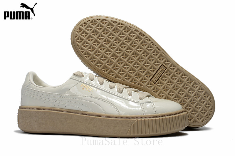 2018 PUMA Basket Platform Patent Women s Sneakers 363314 05 Wn s Sneaker  Classic Badminton Shoes EUR35.5 44-in Badminton Shoes from Sports    Entertainment ... 9d796eddd