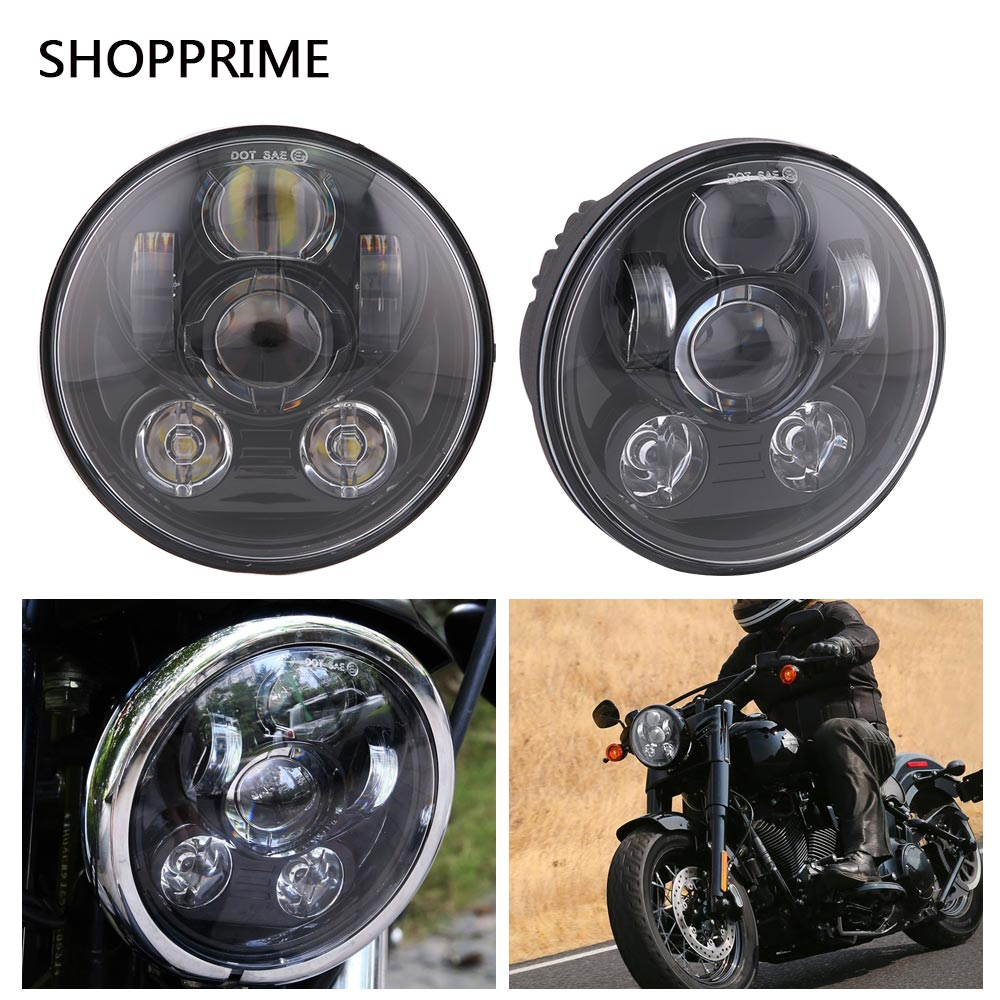 5 3/4 motorcycle headlight led h4 high low beam 5.75'' inch faro Led Moto Headlight projector lens daymaker For harley Davison 7 inch motorcycles headlight for harley davison choppers