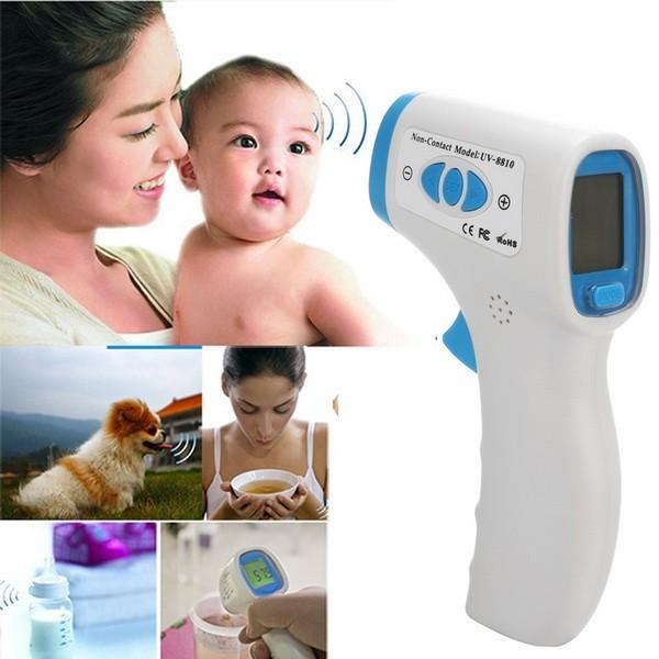2016 New Real Oídos Chupeta Bebé Electrónico Termómetro Termometro Adultos Sin Contacto Digital De Oído Infrarrojo Del Cuerpo