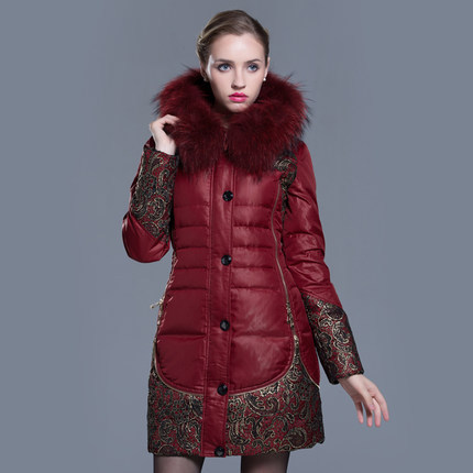 2015 Winter Thicken Warm Woman Down jacket Coat Parkas Outerwear Luxury Hooded Fox Fur collar Long Plus Size 6XXXXXXL Printing