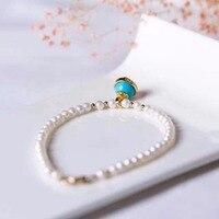 Natural Gems Pearl Bracelets & Bangles Genuine 925 Sterling Silver Bracelet Fine Jewelry Bracelets For Women Christmas Gift