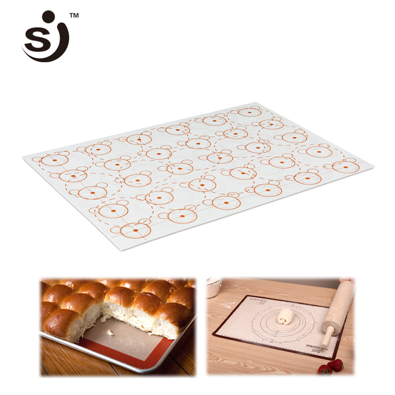 42*29.5cm Cartoon Baking Sheet Glass Fiber Silicone Oven Baking Mat Non-stick Heat Resisting Cake Cookie Macaron Baking Tools Other Cake Tools