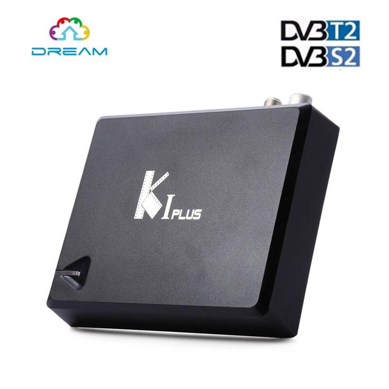 ФОТО K1 Plus S2 T2 Amlogic S905 android dvb  satellite receiver Quad core 64 bit Support DVB 1G 8G 4K k1 plus s2 t2