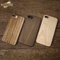 KISSCASE Genuine Bamboo Case For iPhone 6 6s Plus 100% Natural Wood Cover For iPhone 5 5s SE X 7 8 Plus 6 6s Xr Xs Max Funda Bag