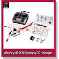 Wltoys V931 RC Helicopter 6CH 2.4G Brushless Scale Lama Flybarless Switchable Mode RTF