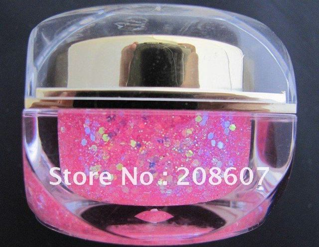 FreeShipping UV Gel Glitter Gel UV Builder Colors Gel 15ml Nail Art EZFLOW UV GEL Opaque UV  Gel  Nail Polish