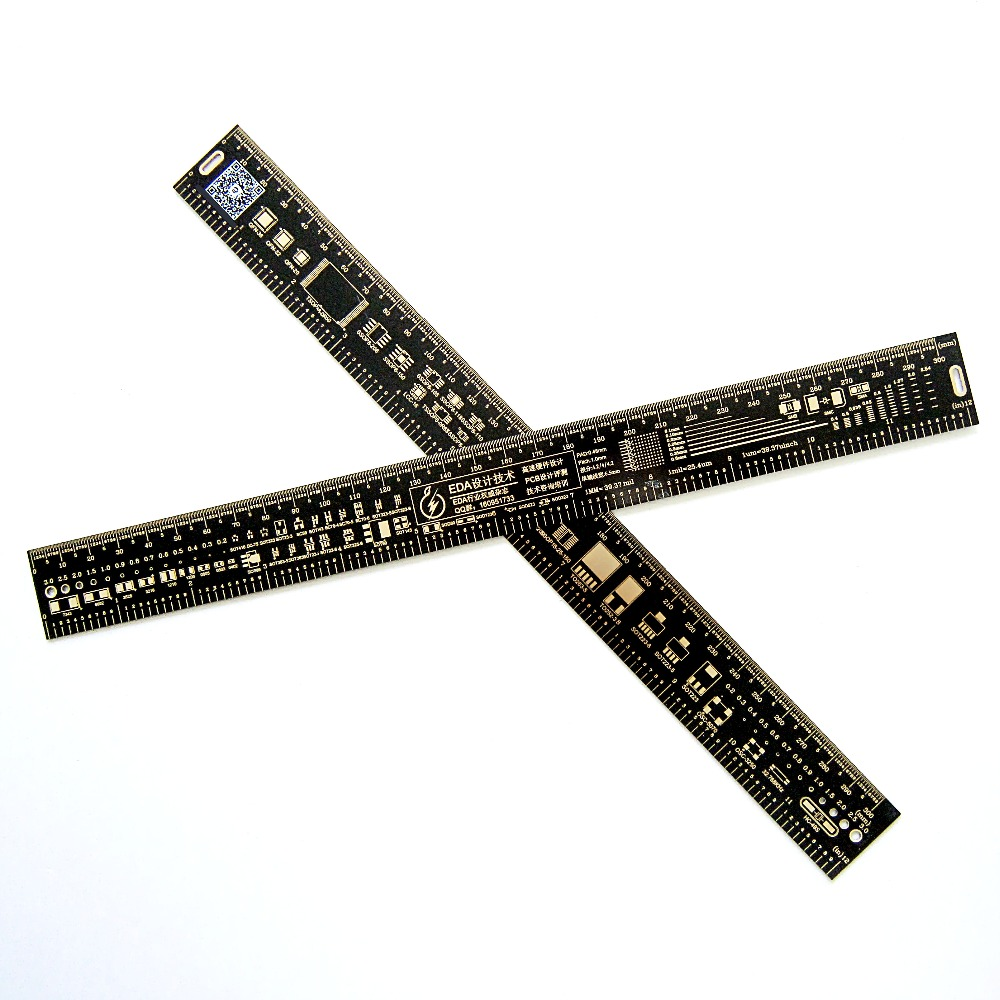 Multifunctional 30CM PCB Ruler + 20CM High Precision Protractor EDA Measuring Tool